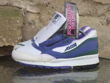 Vintage 1990s Avia 2040 UK8 Deadstock White Purple Sneakers Runners Trainers