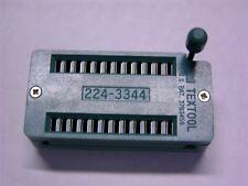 1 3M Textool 224-1275-00-0602J 24-DIP ZIF Sockets 2.54mm Solder Thru-Hole