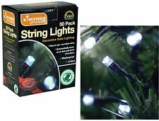 Kingfisher White 50 LED Solar String Fairy Garden Outdoor Party Lights