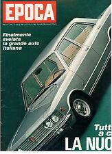 EPOCA N. 962 2 MARZO 1969 FIAT 130 NIXON ROMA MADRE TERESA CALCUTTA PASOLINI