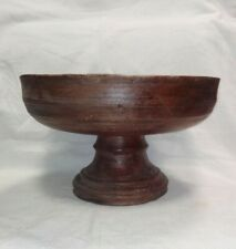 Alzatina Rocchetto in legno del '600 Piemonte cm 17x28 Antikidea