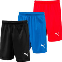 Boys Puma Shorts Core LIGA PU Sports Football Training Short Size Age 7-14