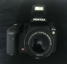 Pentax K10D DSLR Camera with 18-55mm Lens, used but excellent condition.