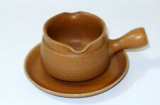 DENBY CANTERBURY DESIGN GRAVY BOAT WITH SAUCER
