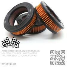 TRIPLE CD150 ZENITH STROMBERG CARBIE AIR FILTER SET [HOLDEN LC GTR-XU1 TORANA]