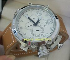 Parnis 50mm Big Face White dial Automatic Men's watch