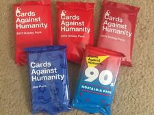 Cards Against Humanity 5 Packs, 2012, 2013 2014 Holiday, Jew Pack, 90s Expansion