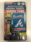 "Party Animal MLB Atlanta Braves Flag House Banner 44"" x 28"" 2-Sided - Brand New"