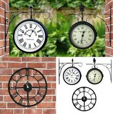 Orologi da parete nera analogici rotondi