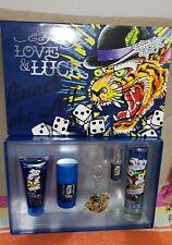 Christian Audigier Love & Luck Gift Set - EDT Spray + 3 oz Hair & Body 3 oz blue