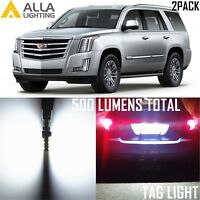 Alla Lighting LED License Plate Tag Light Bulbs for Cadillac ESV EXT,2825L White