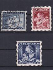 Österreich Muttertagsmarken 1935 - 1937 sauber Gestempelt