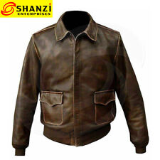 A2 Bomber Jackets Distressed Real Leather Flight Aviator Leather Jackets Fashion