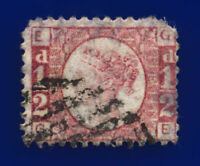 1870 SG49 ½d Rose Plate 5 G4 GE Fair Used Cat £30 crgm