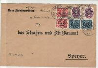 Germany 1922 Lambrecht Multiple Cancel   & official Stamps Cover ref 22945