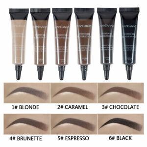 1x Eye Brow Tattoo Tint Dye Gel Eyebrow Cream With Brush Waterproof Long Lasting