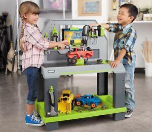 LITTLE TIKES CONSTRUCT N LEARN SMART WORKBENCH CARS GARRAGE SOUNDS APP MECHANIC