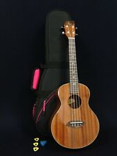 Tenor Ukulele Leaf L200 All Mahogany Gloss Finish Deluxe Pink Padded Soft Case