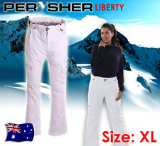 PERYSHER LIBERTY Womens Ski & Snowboard Pants: Ladies, Snowy White, Extra Large