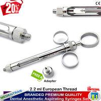 Siringa per anestesia a 3 anelli con aspirazione e aggancio tubofiala 2.2 ml Lab