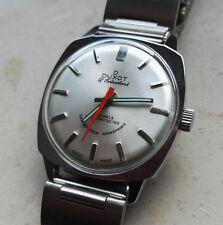 Vintage 1970´s NOS Duxot Swiss Made Armbanduhr 17 Juwels Silber