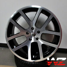 "22"" Viper Style Wheels Machined Black Fits Dodge Charger Challenger Magnum 300C"