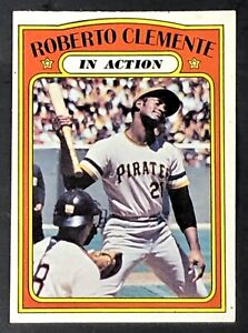Roberto Clemente 1972 Topps In Action #310 Excellent-Mint