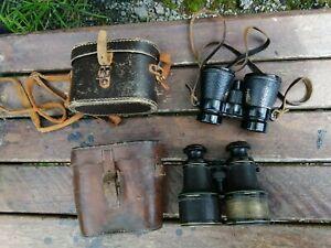 Two Vintage Binoculars in Their Original Cases - Spares & Repairs Only