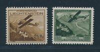 Liechtenstein 1930, Mi. 110+112 mint never hinged, fine, Mi. 210,-€