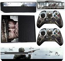 CALL OF DUTY WWII XBOX ONE *TEXTURED VINYL ! * PROTECTIVE SKIN DECAL WRAP