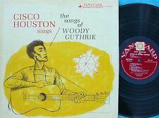 Cisco Houston~Orig US LP Sings the songs of Woody Guthrie EX 1963 Vanguard Folk