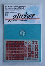 Archer 1/35 British 8th Army AOS & Formation Signs 1940-1942 #4 (7mm) AR35070.7