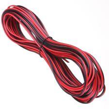 20 METERS 2 CORE BLACK RED 12V 12 VOLT EXTENSION CABLE AMP CAR AUTO VAN BOAT LED
