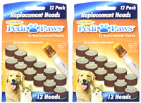 24 Pedipaws Replacement Filing Heads Dog Cat Nail Grinder Claw Care - (2 Pack)