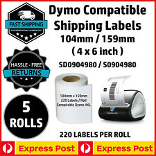 5 Rolls Compatible Dymo 4XL LabelWriter S0904980 Shipping Labels 104x159mm Exprs