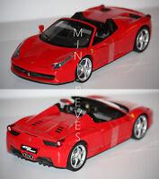Hotwheels Elite Ferrari 458 Spider 2009 rouge 1/18 W1177 5