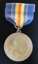 Orig PENNSYLVANIA NATIONAL GUARD WORLD WAR 1 Double Sided Medallion w Ribbon