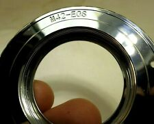 M42 Pentax screw Metal Lens to Canon EOS EF Camera mount adapter Ring CHROME