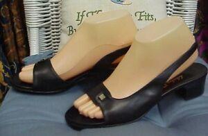 SALVATORE FERRAGAMO Boutique designer slingbacks/heels, sz. 8 B