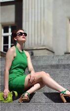 💝ZARA BASIC Kleid Etui Neckholder Mit Kette Grün Gr. 34 Xs/S EDEL!