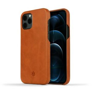 Novada Genuine Leather iPhone 12 Back Case Cover