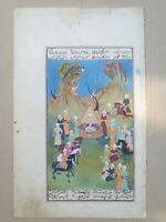 Antique early persian double sided manuscript and painting.illuminated.mughal.