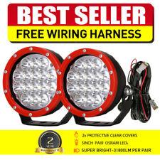 OSRAM RED 2PCS 5 INCH Round LED Spot Driving Work Lights Offroad ATV SUV 12V 24V