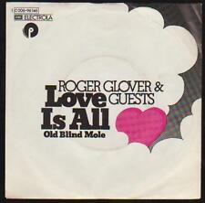 """7"""" Roger Clover & Guests (Deep Purple) Ronnie James Dio Love Is All 70`s Purple"""