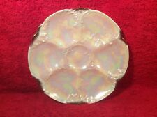 Oyster Plate Antique German Lusterware Oyster Plate c.1884-1933, op307
