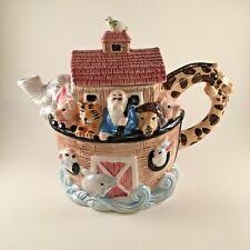 """Noah's Ark Ceramic Tea Pot Wang's International Inc 8"""" x 9 1/2"""""""