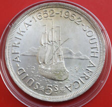 Süd Afrika-South Africa: 5 Shillings 1952 Silber, KM# 41, VZ+-XF+, #F 1650