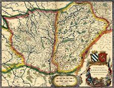 Reproduction carte ancienne - Bourgogne XVIIè