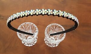 Diamante Ab  Hair Band.Alice band.Child or Adult. Weddings.bridal.proms.GRIPPER.