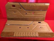 81-86 Ford Fox Body Mustang 5.0L TAN Door Panels Manual Windows 79 85 84 83 82